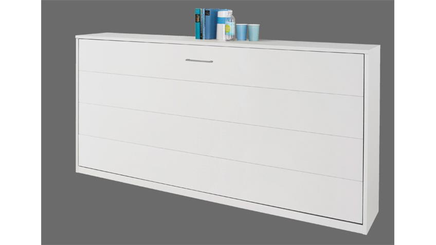 Klappbett ALBERO Weiß inkl. Lattenrost 90x200 cm