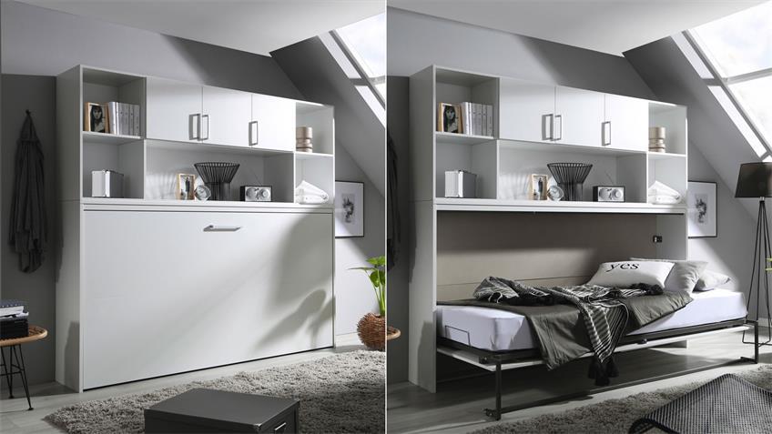 Schrankbett ALBERO 90x200 cm weiß