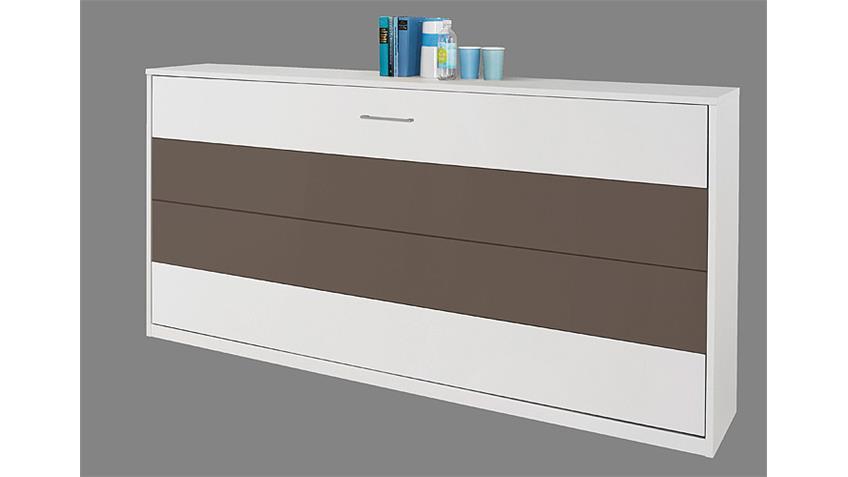 Klappbett ALBERO Eiche Weiß und Lavagrau 90x200 cm