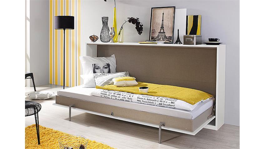 Klappbett-Set ALBERO Weiß und Lavagrau 90x200 cm