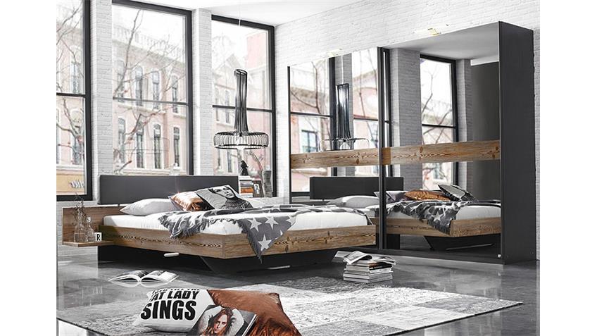 Schlafzimmer-Set MONTREAL Graphit Spiegel Lärche Natur