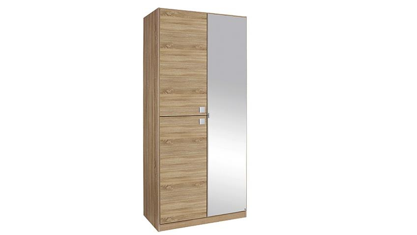 Kleiderschrank CARIA Eiche Sonoma mit Spiegel B 91 cm