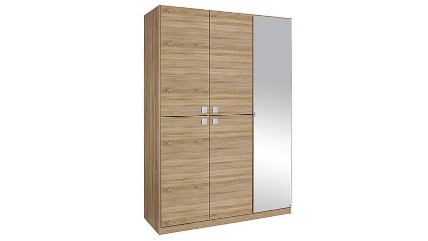 Kleiderschrank CARIA Eiche Sonoma mit Spiegel B 136 cm