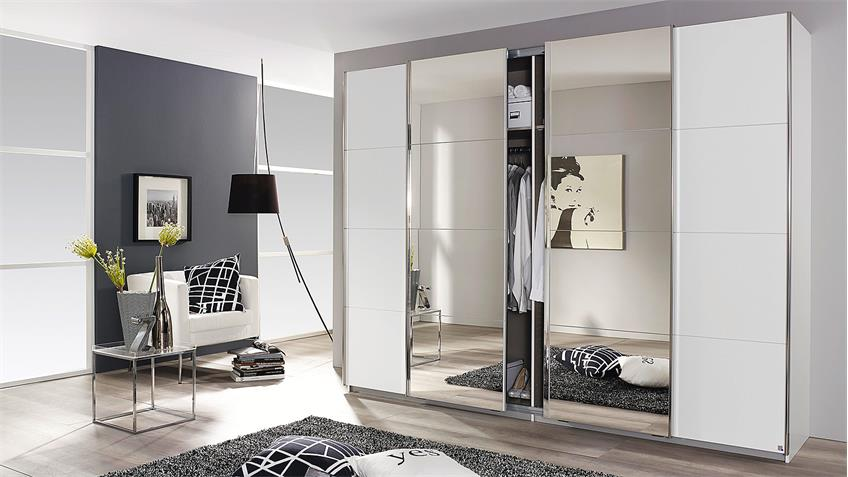 schwebet renschrank syncrono wei mit spiegel b 271 cm. Black Bedroom Furniture Sets. Home Design Ideas