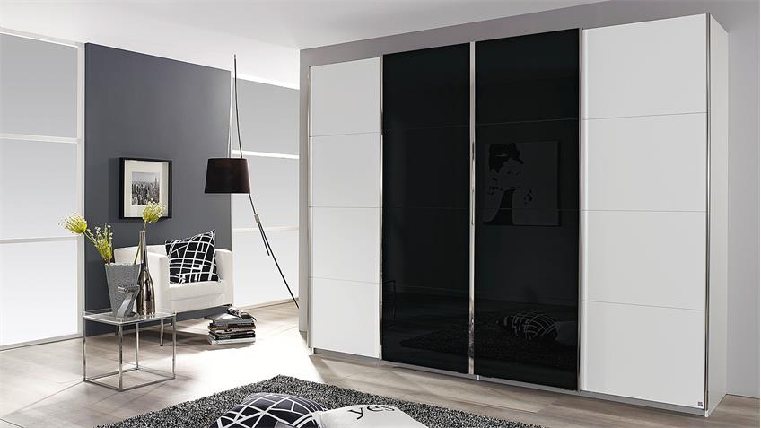schwebet renschrank syncrono wei und glas schwarz 271 cm. Black Bedroom Furniture Sets. Home Design Ideas