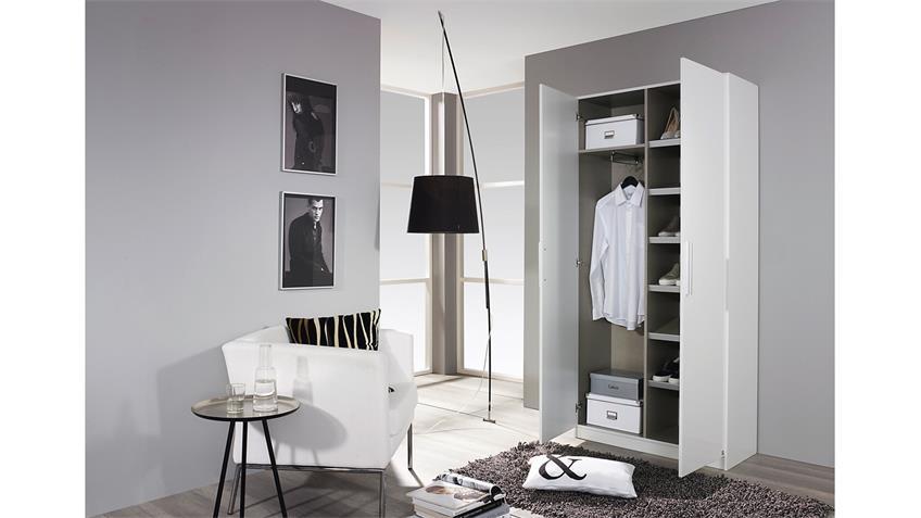 Schuhschrank MINOSA Garderobe Weiß Hochglanz B 91 cm