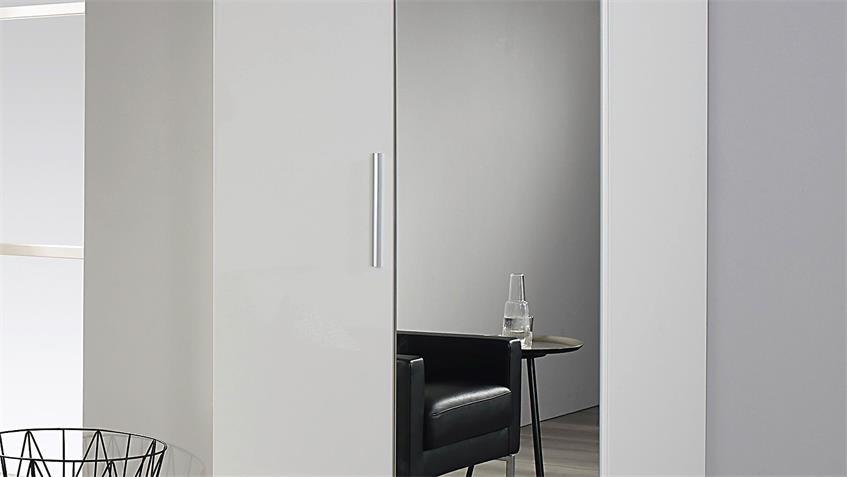 garderobenschrank minosa kleiderschrank in wei hochglanz 91 cm. Black Bedroom Furniture Sets. Home Design Ideas