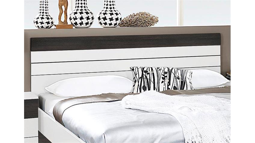 Bettanlage TARRAGONA Weiß Wenge Shiraz 180x200 cm