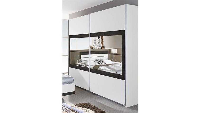 Schwebetürenschrank TARRAGONA Weiß Wenge Shiraz B 181 cm