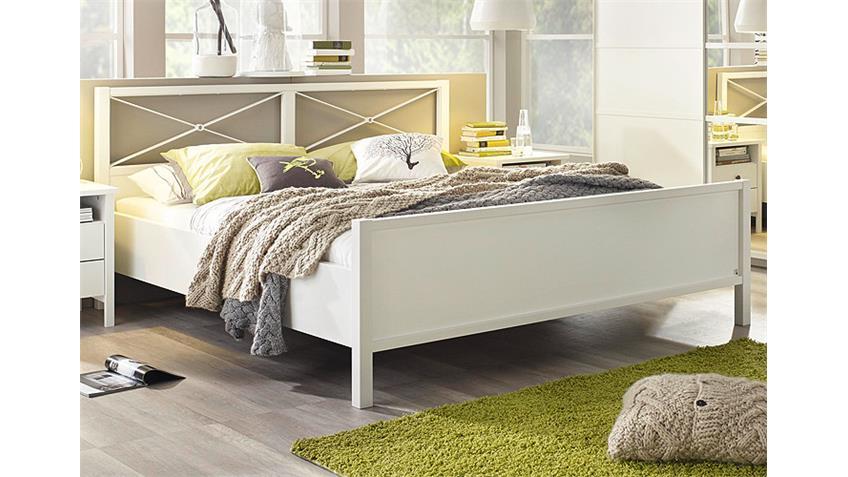 Bett MARIT Doppelbett Weiß Kopfteil Metall Weiß 180x200 cm