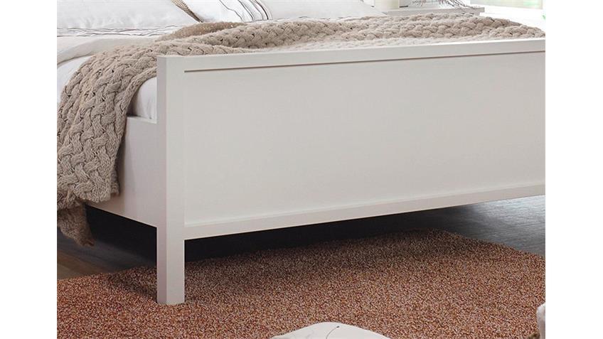 Bett MARIT Doppelbett Weiß Kopfteil mit Sprossen 180x200 cm