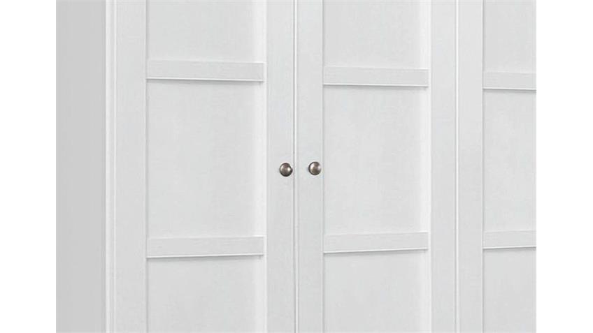 Kleiderschrank MARIT Weiß mit 4 Türen Breite 181 cm