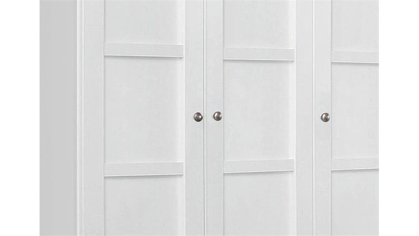 Kleiderschrank MARIT Weiß mit 5 Türen Breite 225 cm