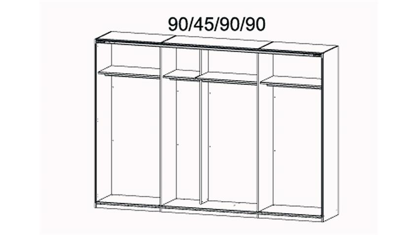 Schlafzimmer-Set 3 MARIT Bett Kleiderschrank Nako Weiß