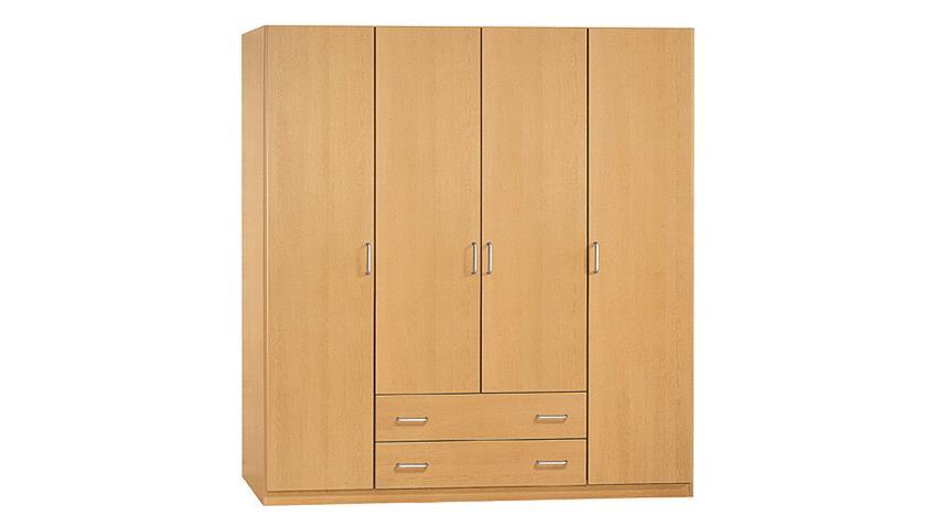 Kleiderschrank Prima 4You mit 4 Türen Buche hell B 181 cm
