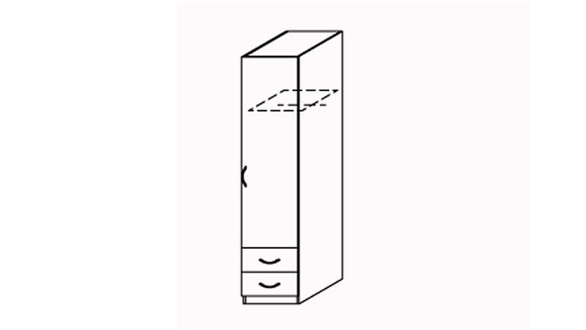 Kleiderschrank Prima 4You mit 1 Tür Weiß B 47 cm