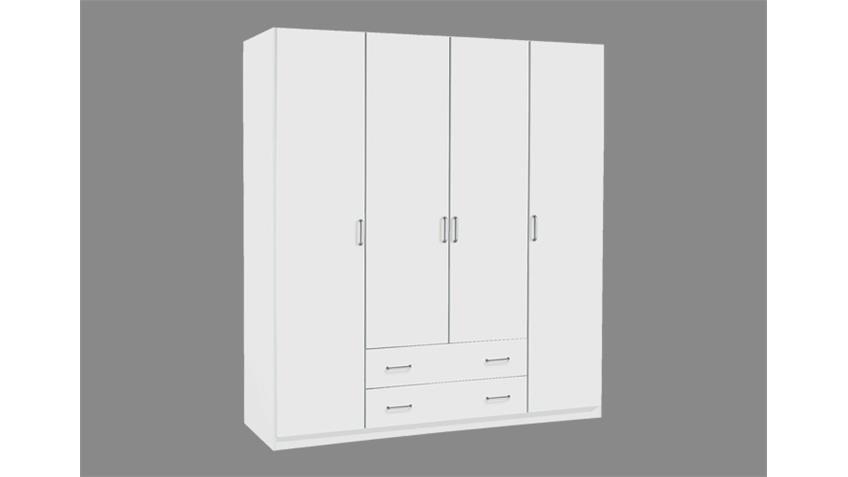 Kleiderschrank Prima 4You mit 4 Türen Weiß B 181 cm