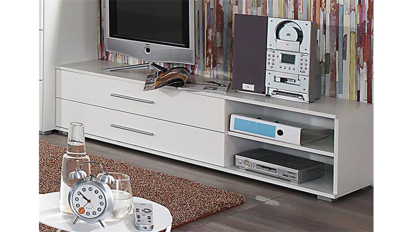 TV-Element MANJA Weiß Hochglanz Lowboard B 149 cm