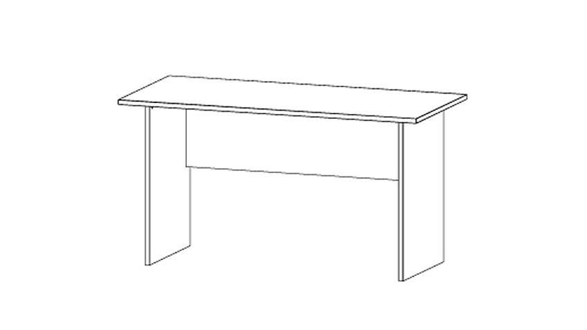 Schreibtisch MANJA Tisch in alpinweiß Breite 140 cm