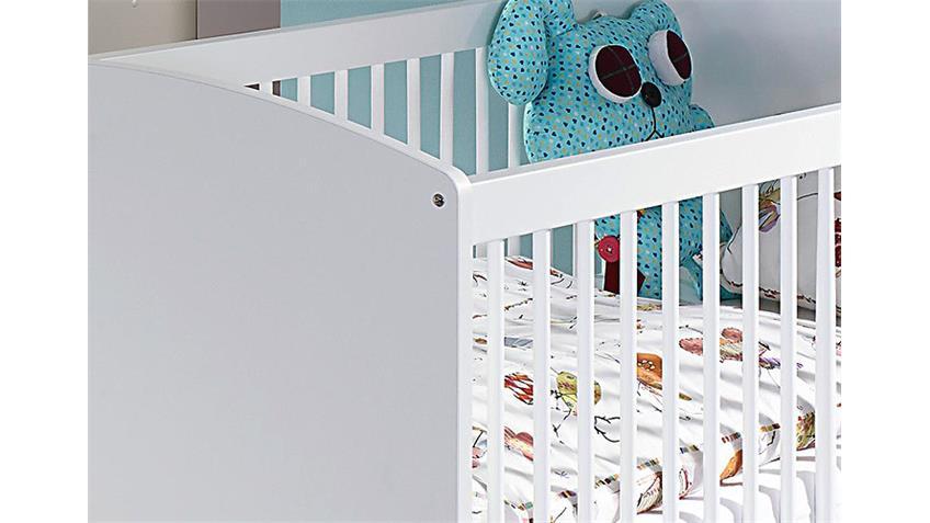 Babybett MANJA Babyzimmer in weiß hochglanz 70x140 cm