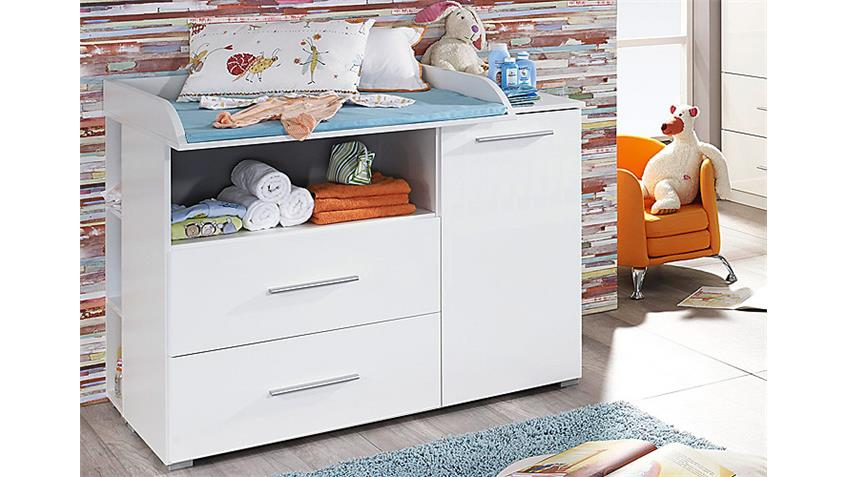 Babyzimmer-Set MANJA 4-teilig Weiß Hochglanz