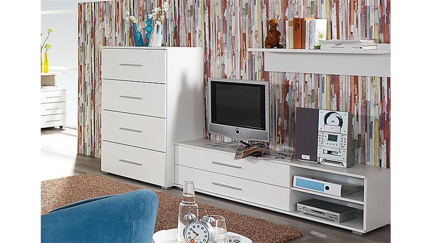 Wohnkombi MANJA für Jugendzimmer Weiß Hochglanz
