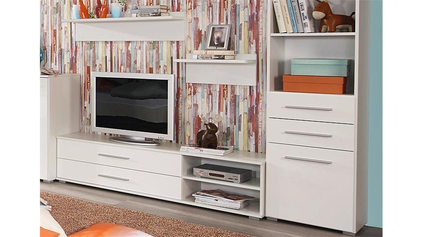 wohnkombi manja jugendzimmer wei hochglanz 5 teilg. Black Bedroom Furniture Sets. Home Design Ideas