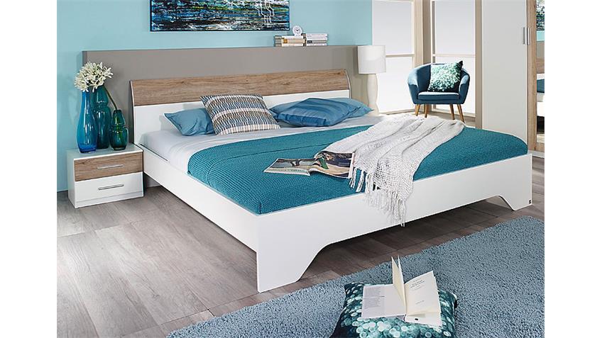 Schlafzimmer-Set 2 HEINSBERG Weiß Eiche Sanremo hell