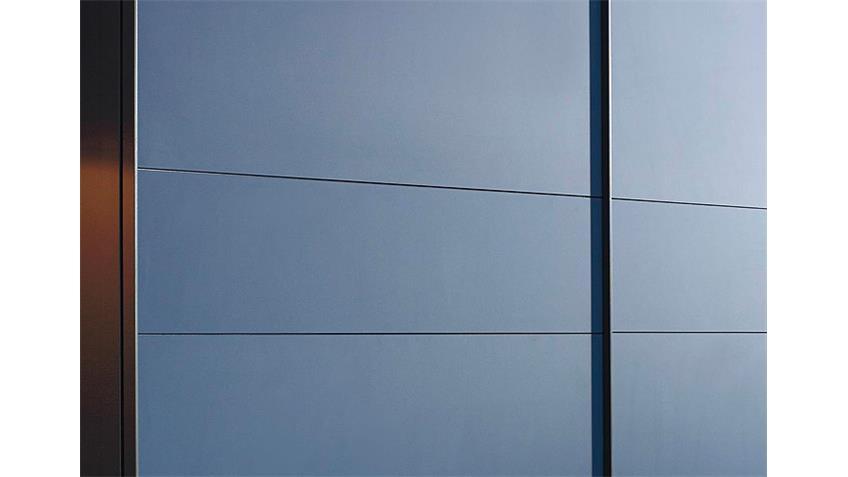 Schwebetürenschrank BAYAMO Glas matt Blau Schwarz B 270 cm