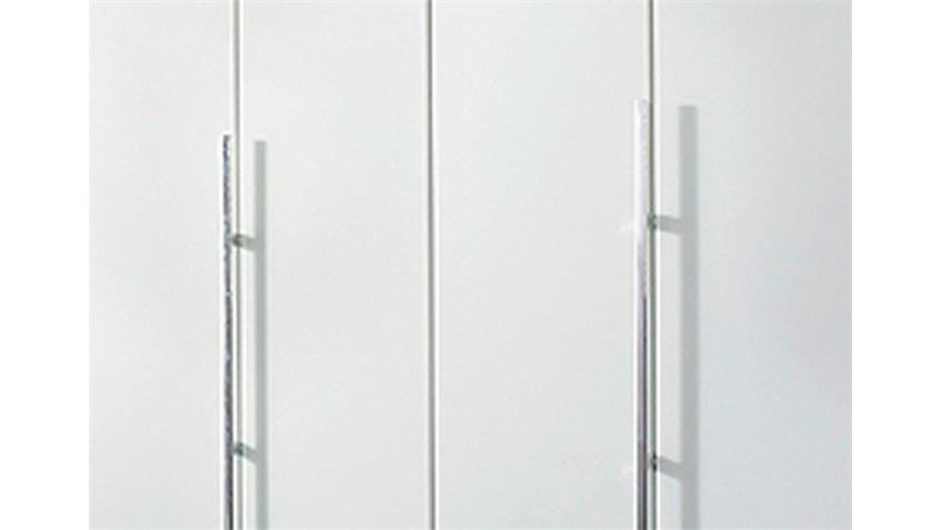 Kleiderschrank BAYAMO Glas matt Weiß B 181 cm 4 Türen