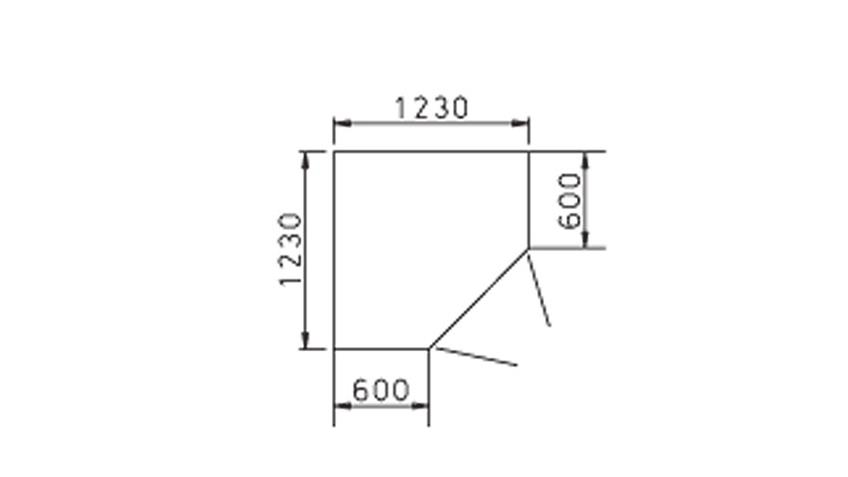 Eck-Kleiderschrank BAYAMO Glas matt Weiß 2 Türen