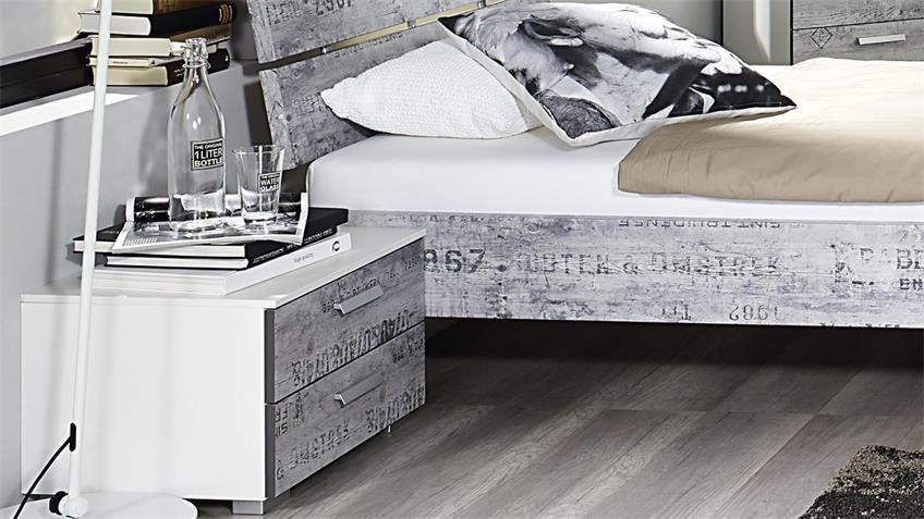 Jugendzimmer Sumatra Extra Alpinweiß Vintage grau