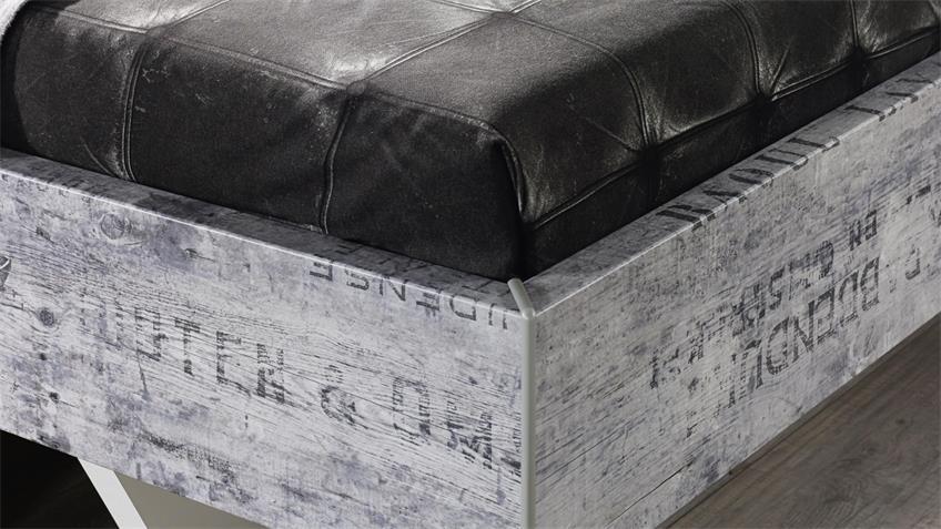 Bettanlage Sumatra Extra Alpinweiß Vintage grau