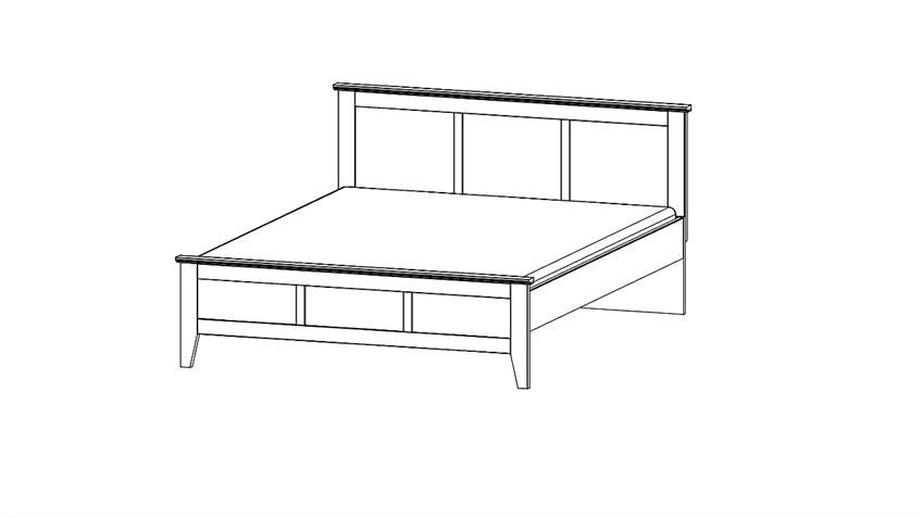 Bett ROSENHEIM Schlafzimmerbett in alpinweiß 180x200