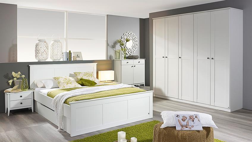 Bett ROSENHEIM in alpinweiß inkl. Bettschubkasten 160x200
