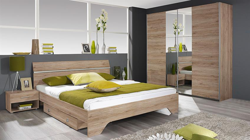 bettanlage fellbach bett nako san remo eiche hell 160x200. Black Bedroom Furniture Sets. Home Design Ideas