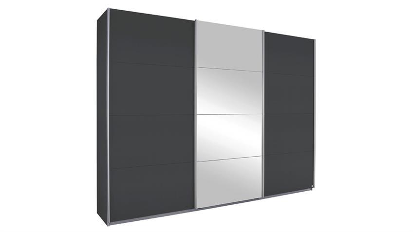 Schwebetürenschrank KULMBACH grau metallic Spiegel 271