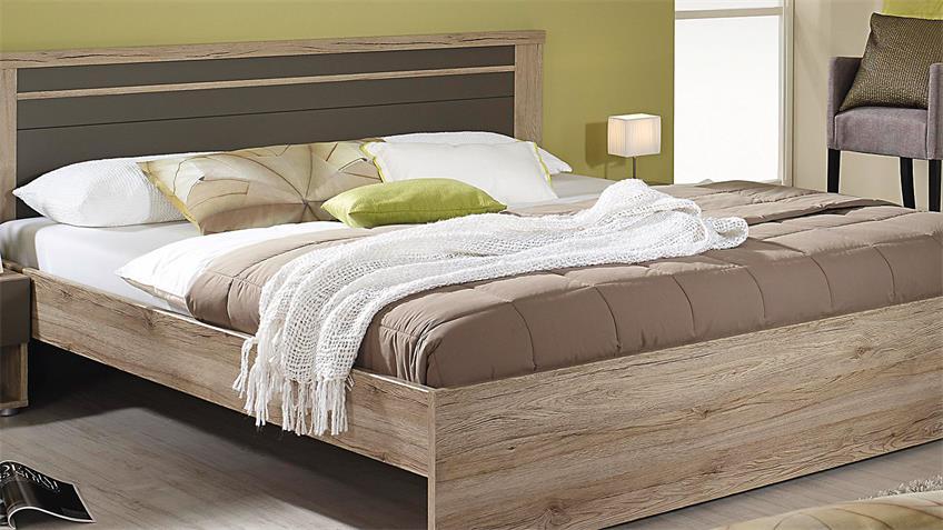 bettanlage herborn bett nako eiche san remo lavagrau 160x200. Black Bedroom Furniture Sets. Home Design Ideas