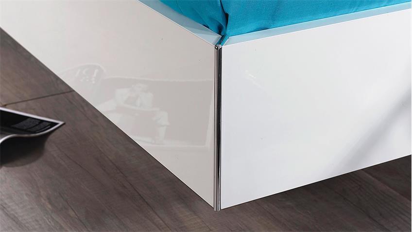 Bettanlage STARNBERG Bett Nako in weiß Hochglanz 180x200