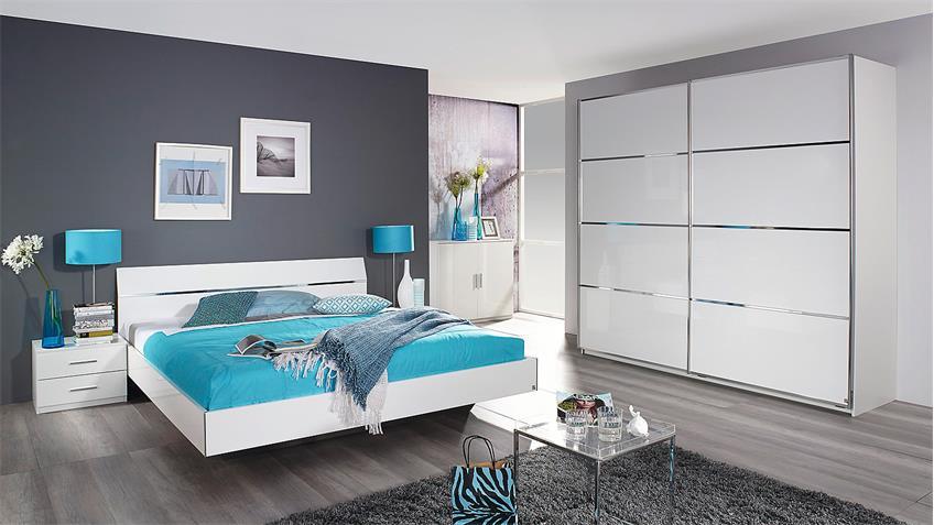 Bettanlage STARNBERG Bett Nako in weiß Hochglanz 160x200