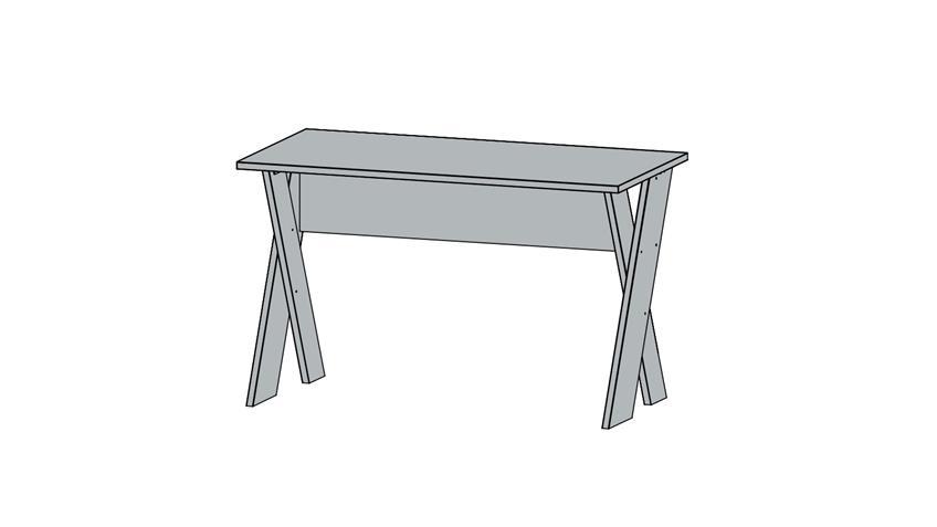 Schreibtisch SUSANN PC-Tisch Computertisch in Eiche Stirling