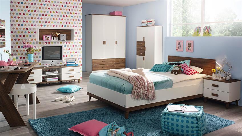 Jugendzimmer SUSANN Kinderzimmer in weiß Eiche Stirling
