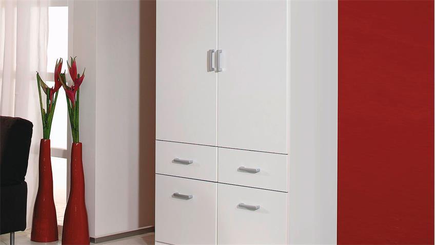 Kleiderschrank BREMEN Schrank Wäscheschrank in weiß 91