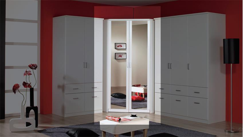 eckschrank bremen kleiderschrank in wei mit spiegel 117. Black Bedroom Furniture Sets. Home Design Ideas