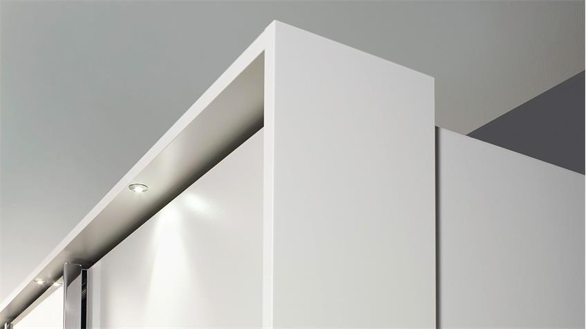 Schwebetürenschrank SYNCRONO in weiß mit Rahmen 323