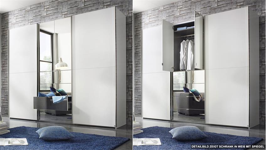 Kleiderschrank BAYLANDO 1 Schwebetürenschrank weiß graphit