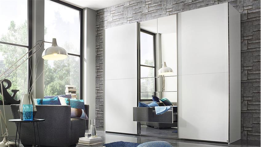 Kleiderschrank BAYLANDO 3 Schwebetürenschrank weiß Spiegel