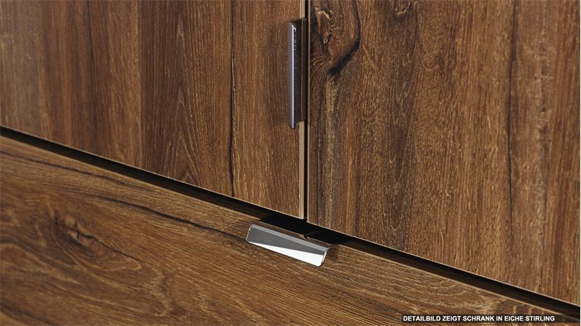 Kleiderschrank BAYLANDO 4 Schrank in graphit mit Spiegel