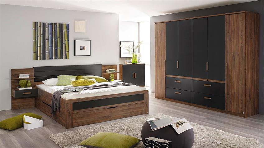 Kleiderschrank BERNAU in Eiche Stirling grau metallic 271