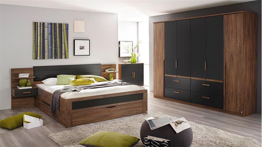 schlafzimmer set bernau in eiche stirling grau und basalt. Black Bedroom Furniture Sets. Home Design Ideas